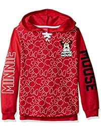 Big Girls' Minnie Mouse French Terry Hoodie Pullover