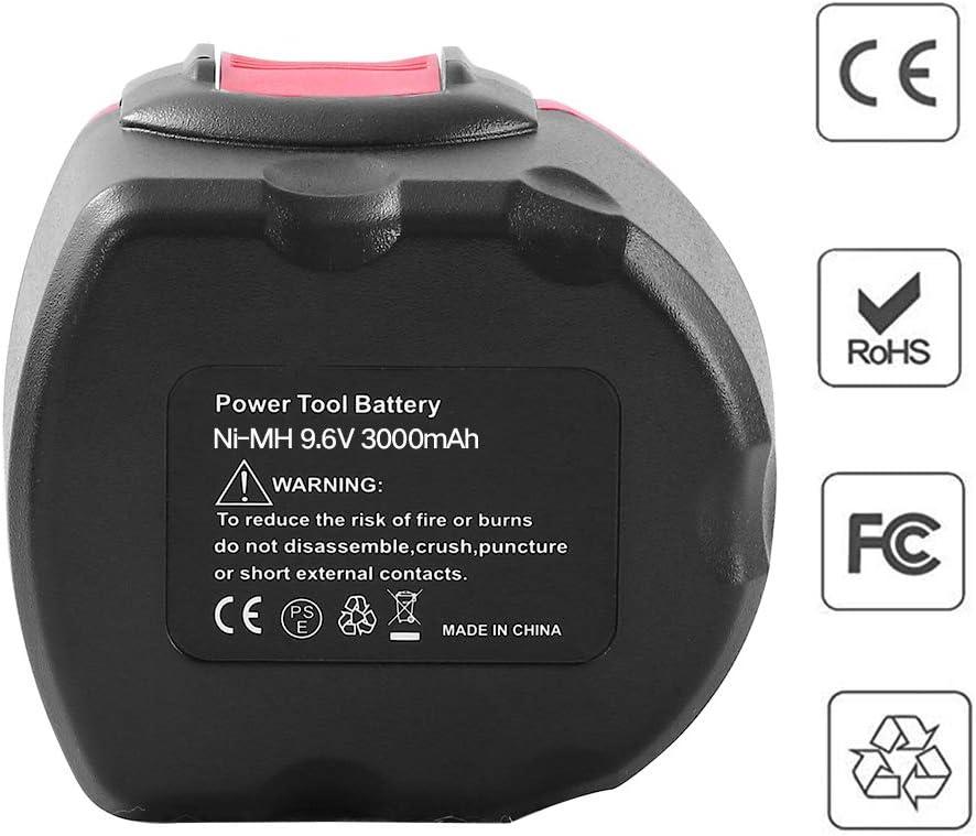 2x Batterie pour Bosch 9,6v 3000mah ni-mh remplace 2607335540 2607335529