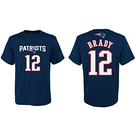 new styles 20191 3881a Outerstuff Tom Brady New England Patriots Youth Mainliner Jersey Name and  Number T-shirt