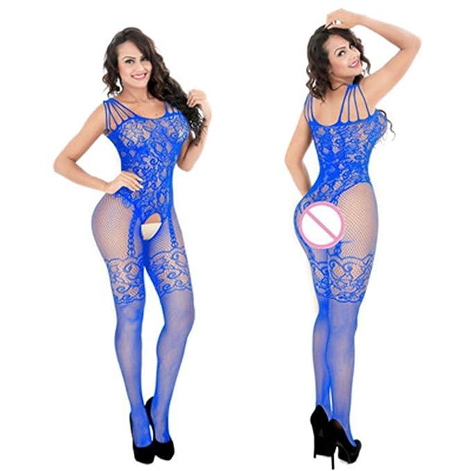 Amazon.com: Sexy malla novedad ropa interior ropa exótica ...