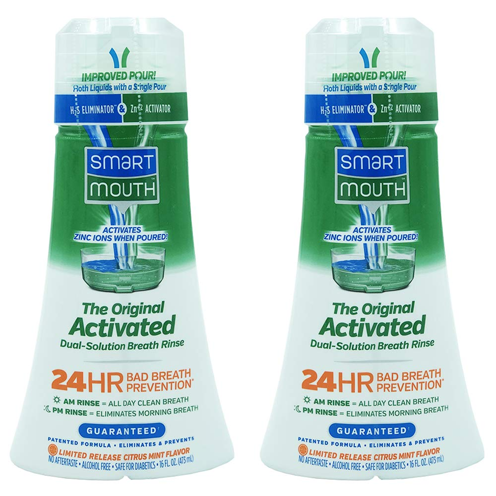 SmartMouth Original Activated Mouthwash, 16oz - LIMITED RELEASE FLAVOR - 2 PACK