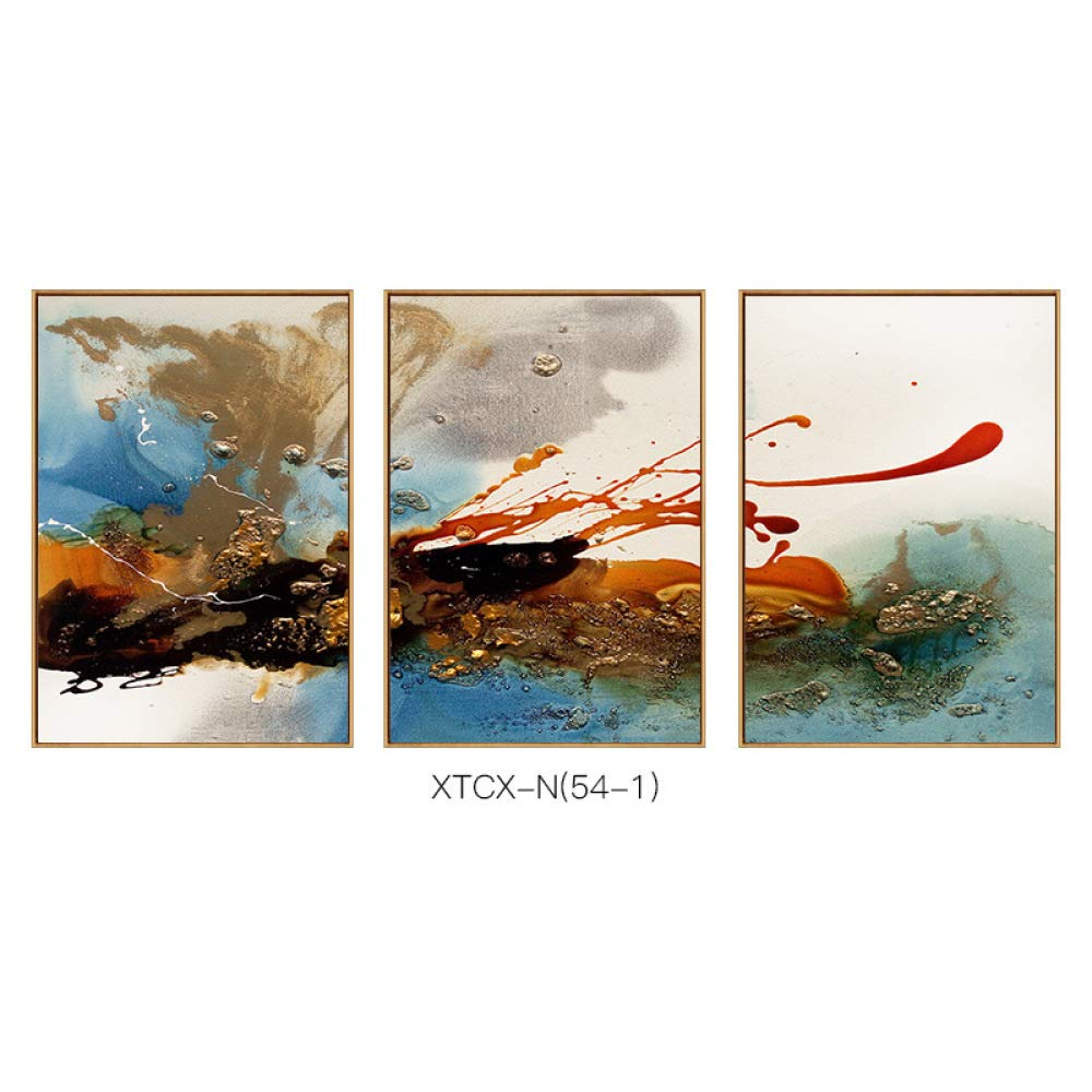 STTS Wall Decoration - Abstract Triptych, Simple Modern Decorative Painting, Living Room Study Office Wall, Hanging Painting, Framed Painting,C,50100 by STTS