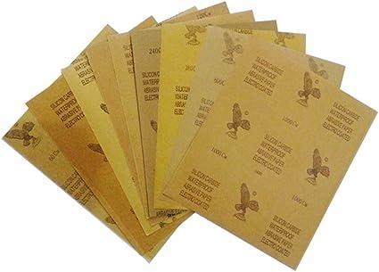 Oda 23x28cm Car Sandpaper Waterproof Abrasive Paper for Automotive Furniture Polishing Grinding 120 to 2000 Grit Sandpaper Assortment