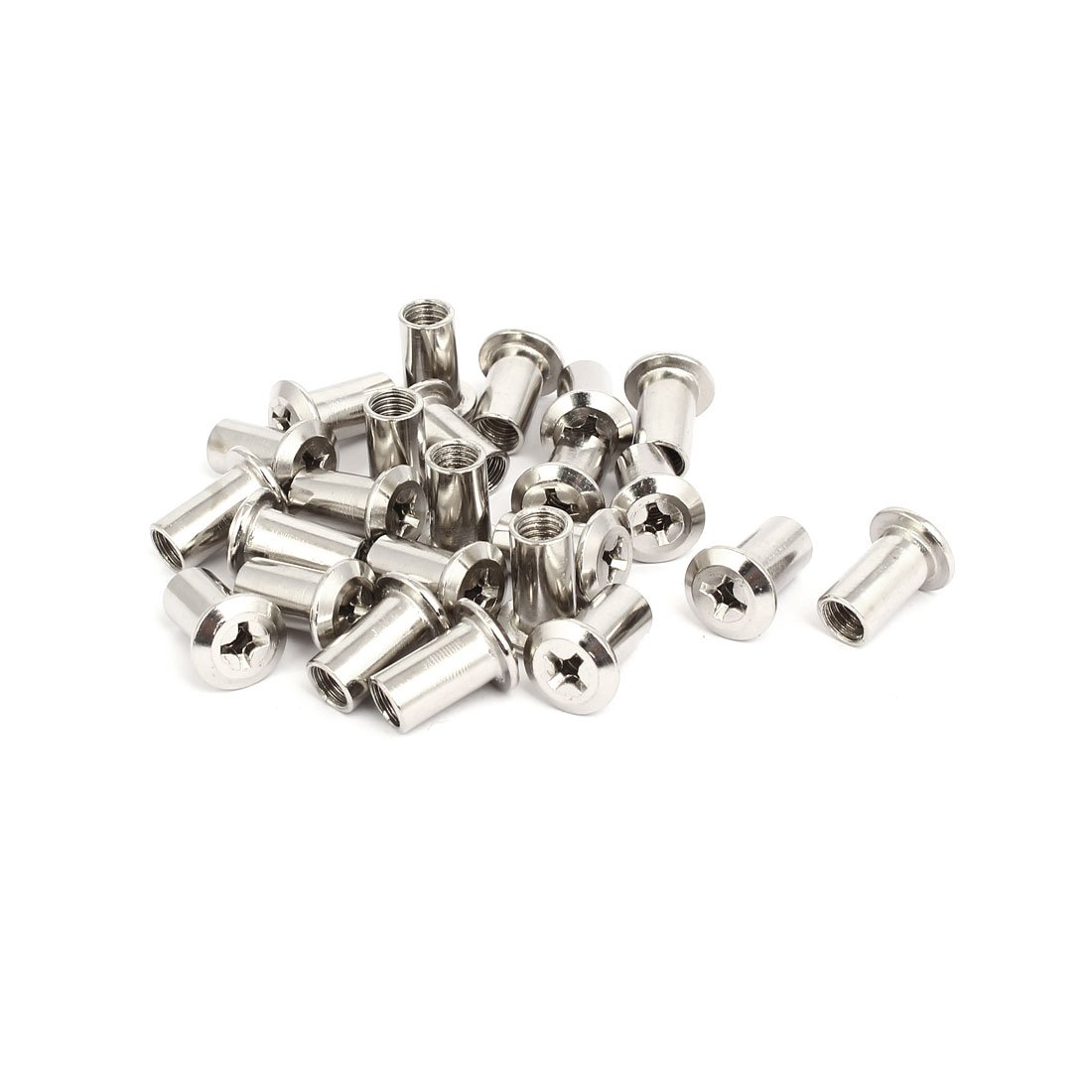 uxcell M8x18mm Female Thread Phillips Head Nut Furniture Fittings 24pcs