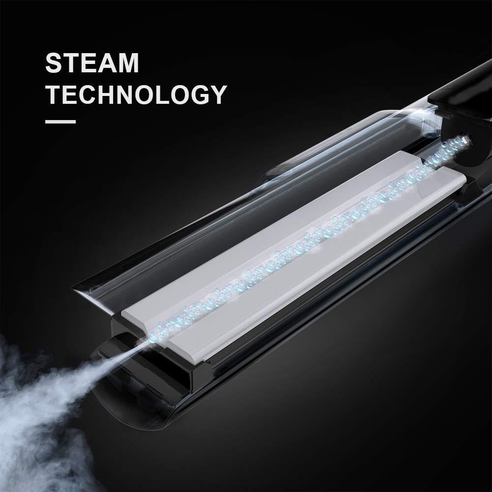 Loreal Professional Steampod - Plancha para alisado de cabello, color azul y negro: Amazon.es: Salud y cuidado personal