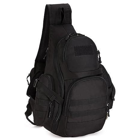 Molle Tactical Military Shoulder Bag Backpack Camping Hiking Chest Bag Rucksack