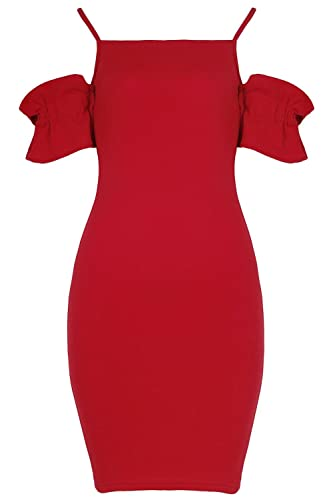 Fashion Star - Vestito - Maniche corte - Donna rosso Red