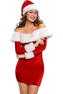 Amazon.com: Disfraz de la Sra. Santa Claus sexy para adultos ...