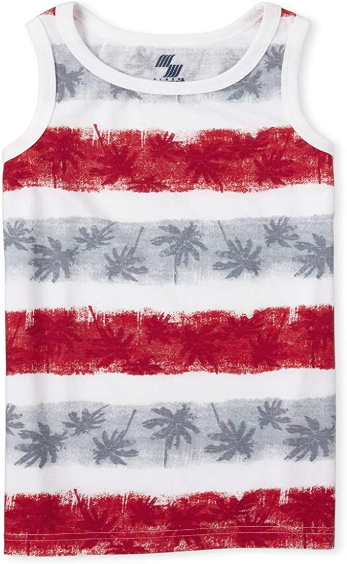 The Childrens Place Boys Graphic Printed Tank Top