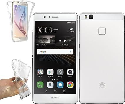 REY Funda Carcasa Gel Transparente Doble 360º para Huawei P9 Lite, Ultra Fina 0,33mm, Silicona TPU de Alta Resistencia y Flexibilidad: Amazon.es: Electrónica