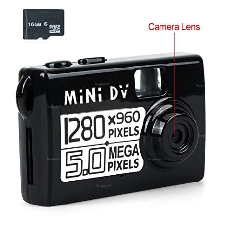 TOUGHSTY 16GB Mini DV Videocámara Cámara de Vídeo de Tarjeta ...