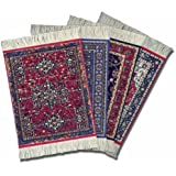 "Lextra (Oriental Assortment), CoasterRug, assorted colors, 5.5"" x 3.5"", set of four"