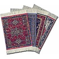 Lextra CRA-C02 (Oriental Assortment), CoasterRug, assorted colors, 5.5 x 3.5, set of four