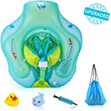Delicacy [Upgrade] Baby Float, Baby Swimming Ring with Crotch Bottom, Infant Floats Adjustable Waist Infant Inflatable Ring, Baby Swimming Floats for 6-30 month with Manual Pump and Float Toys