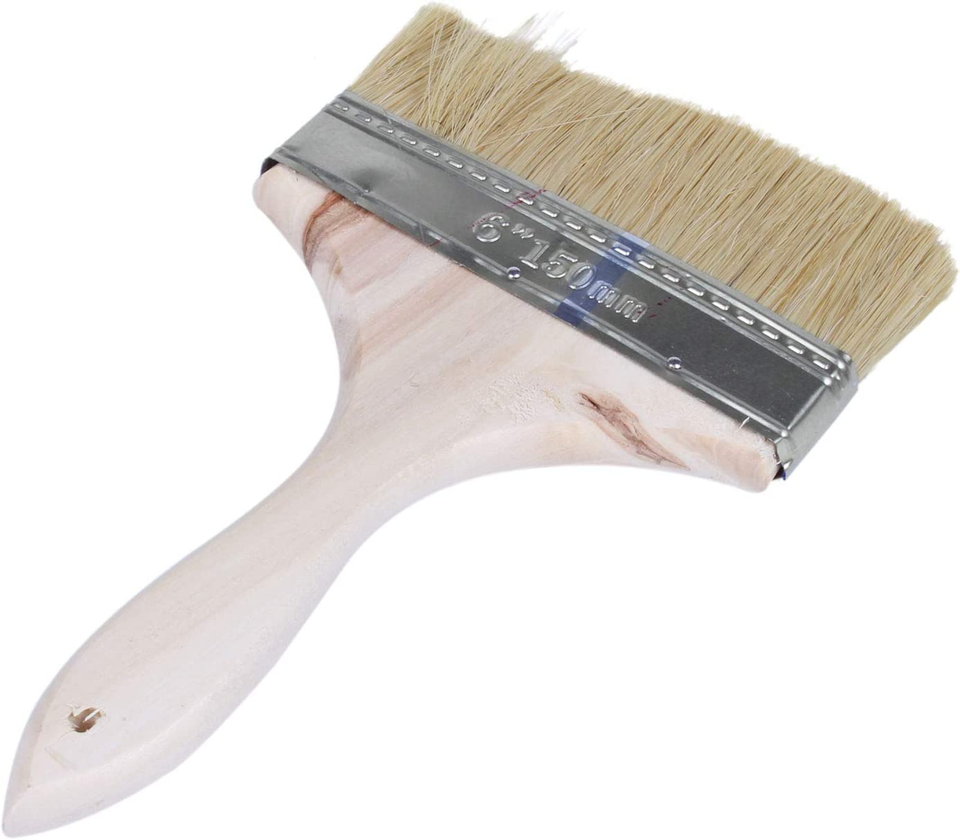YeBetter 6 Wide Bristle Hair Wooden Handle Paint Brush Wall Painting Tool