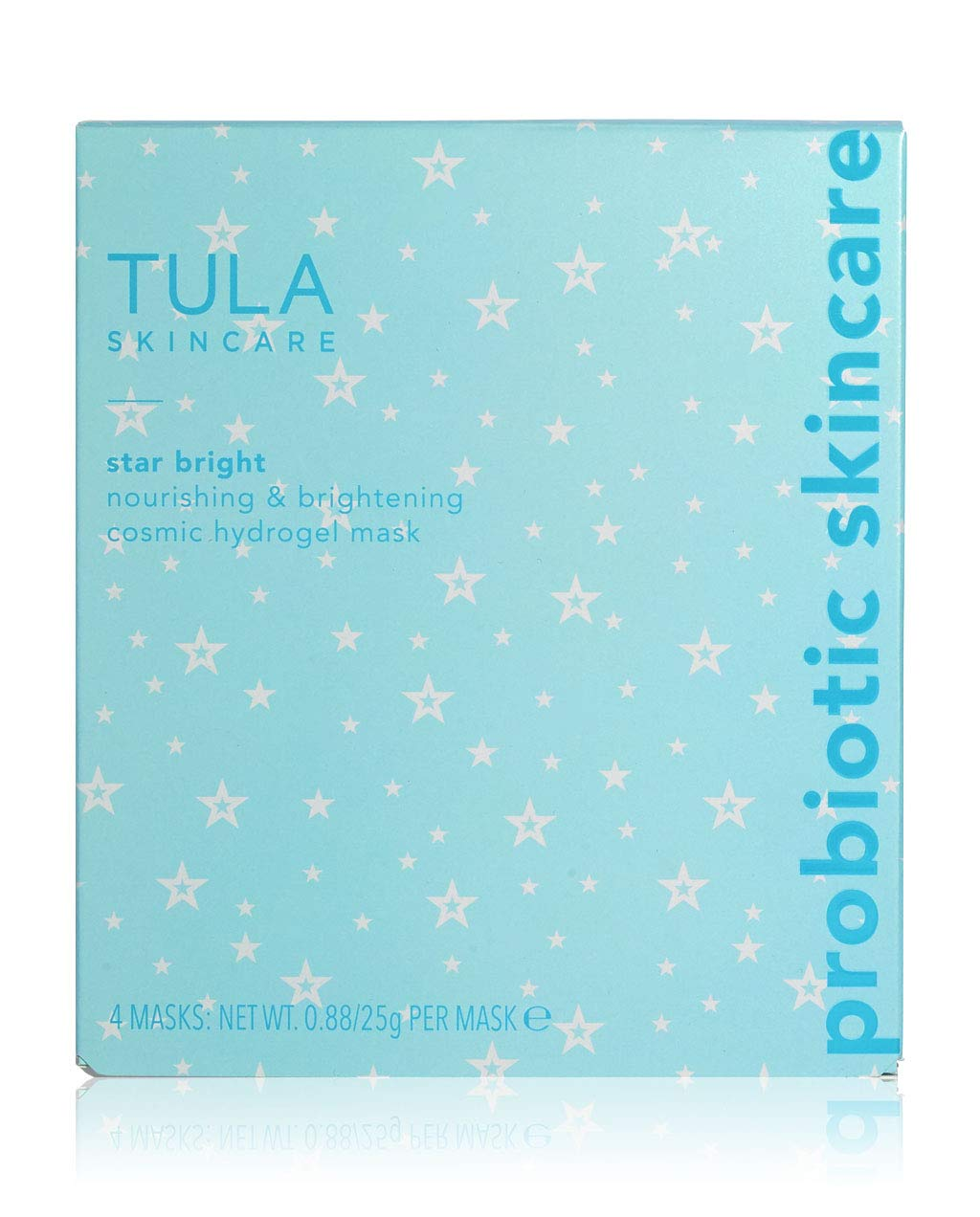 TULA Probiotic Skin Care Star Bright Nourishing & Brightening Hydrogel Mask | Face Mask, Sheet Mask that Gives a Boost of Cosmic Glow and Hydration, Contains Grapefruit and Chamomile | Pack of 4