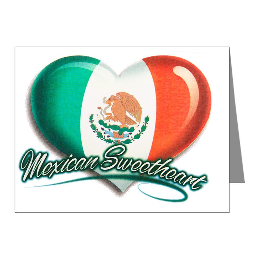 Note Cards (20 Pack) Mexican Sweetheart Mexico Flag