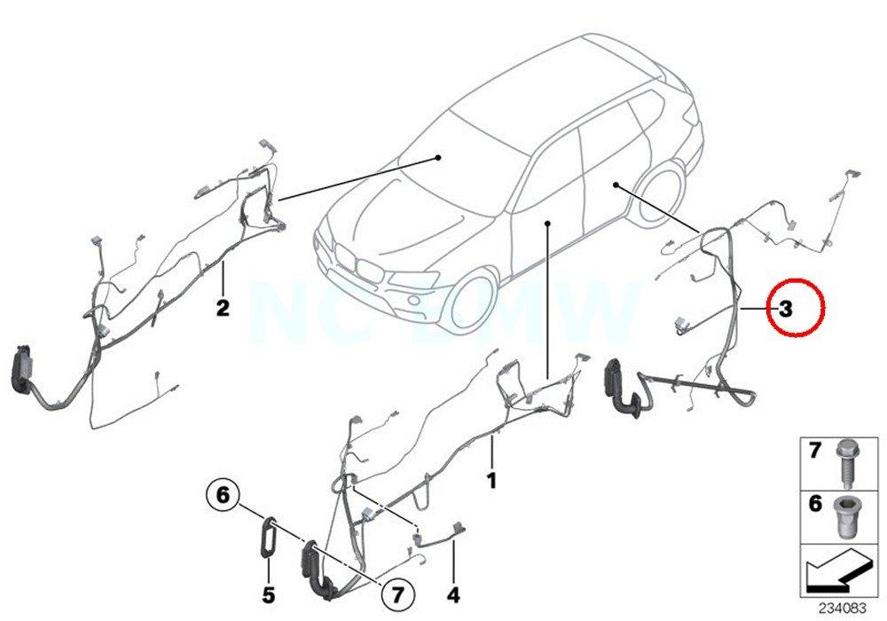 Amazon Com Bmw Genuine Rear Door Wiring Harness Automotive