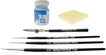 Set of 3 SAA Masking Fluid Brushes