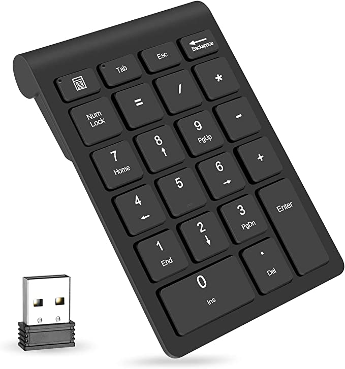 USB NUMERIC KEYPAD WITH BACKSPACE /& 2 PORT HUB FOR NOTEBOOK LAPTOP ETC