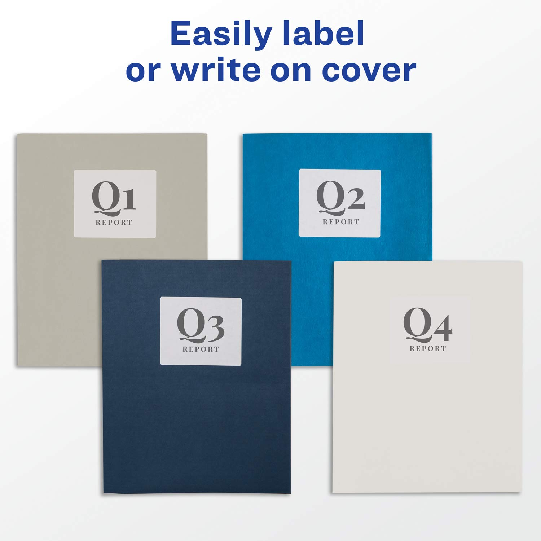 Box of 25 Avery 47993 Two-Pocket Folder Assorted Colors 40-Sheet Capacity