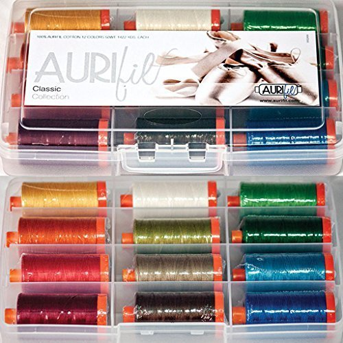 Aurifil Thread Set Classic Collection 50wt Cotton 12 Large (1422 yard) Spools