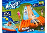 Go Triple Slider Kids Outdoor 3-Person Water Slide w/ Splash Lagoon