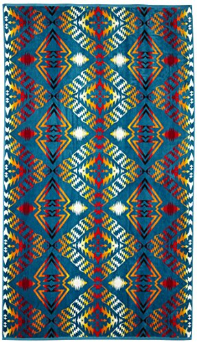 Pendleton Over-Sized Cotton Beach Towel, Thunder and Earthquake Turquoise