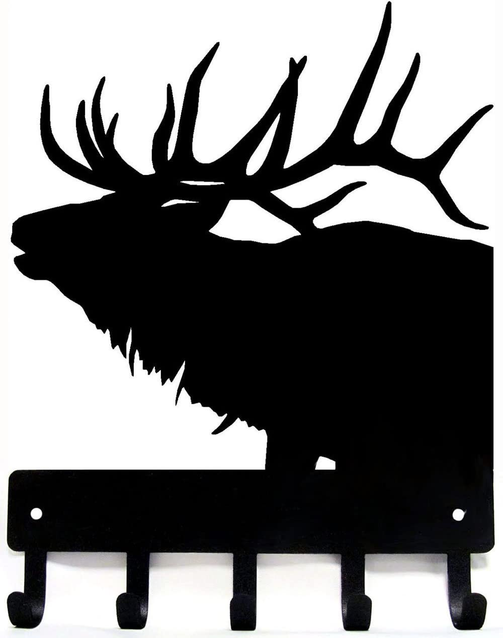 The Metal Peddler Elk Antlers Key Rack Hanger - Small 6 inch Wide