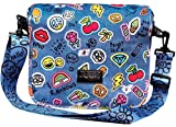 iscream Girls' 'Happy Patches' Crossbody Messenger Bag Style Purse in Casual Neoprene