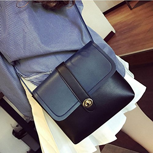 Teen Handbags for Bags Fashionable Casual Mini T Shoulder Body TOPUNDER by Leather Women Black Cross Girls Bag wvwC0Pq