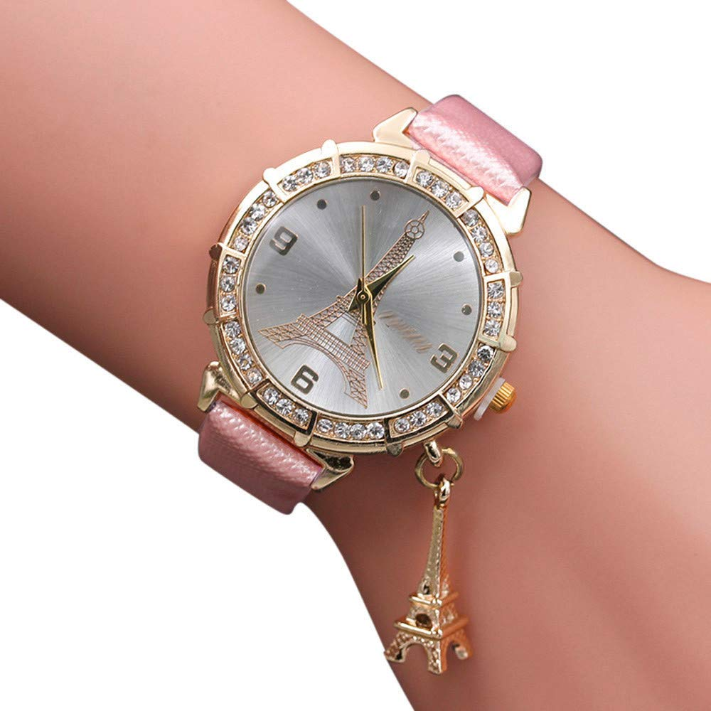 Amazon.com: Womens Watches On Sale,Clearance Ladies Classic Quartz Analog Watch,Wugeshangmao Female The Eiffel Tower Rhinestone Pendant Wirst Watch ...