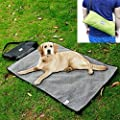 Coofone Pet Dog Bed Portable Outdoor/Indoor Waterproof Snuggle Comfort Blanket Reversible Design Pet Dog Travel Blanket Sleeping Mat In 2 Colors