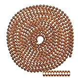 10 Foot Length Ball Chain, 10 Size, Copper, 10 Matching 'B' Couplings