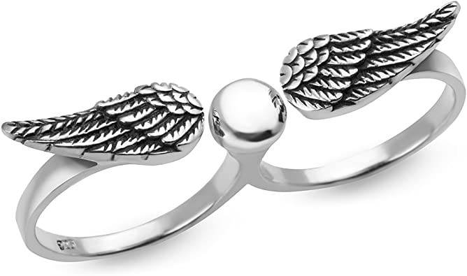 Sterling Silver Double Finger Ring