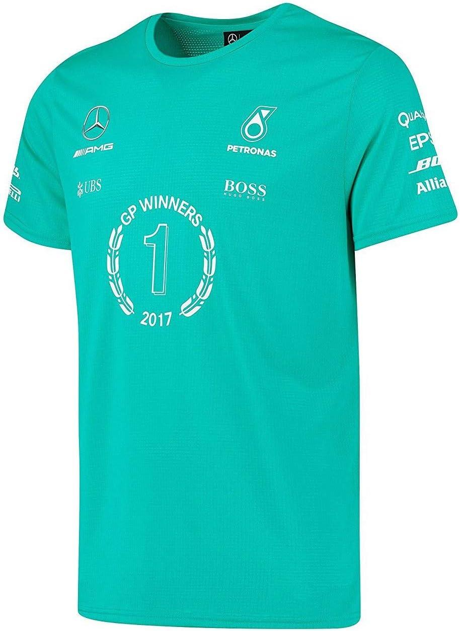 Camiseta oficial de ganador de carrera Mercedes AMG Petronas F1 Team, para hombre, 2017: Amazon.es: Deportes y aire libre