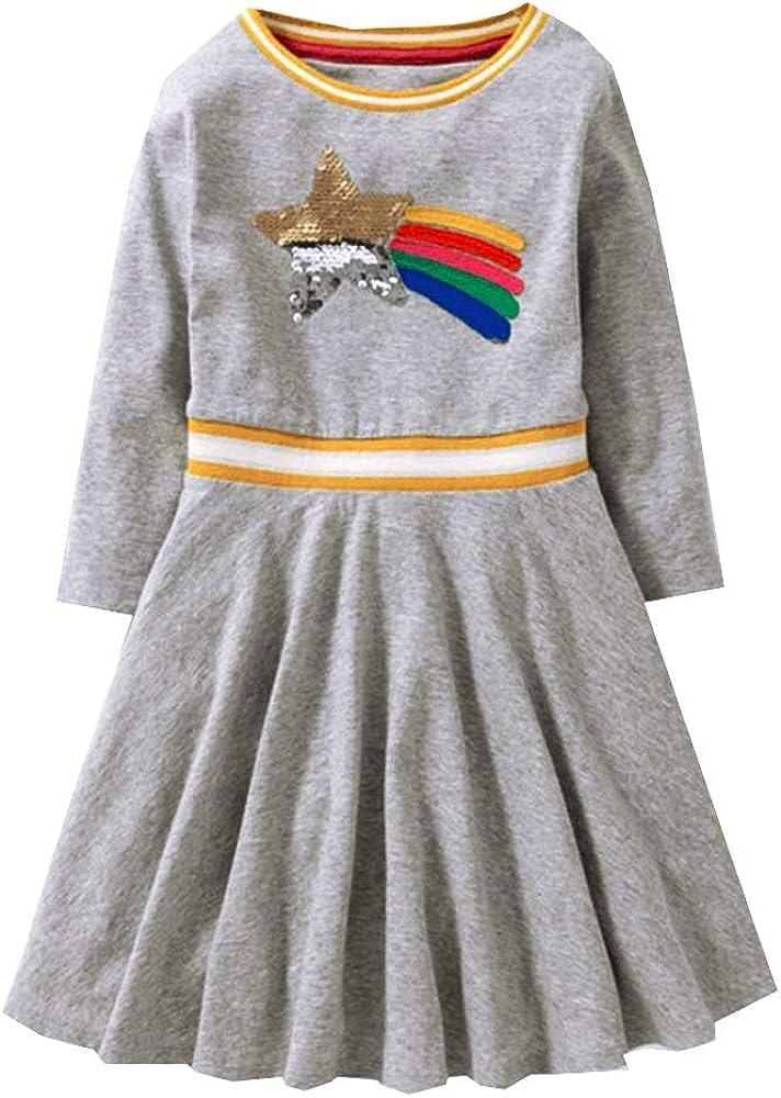 Amazon.com: Vikita Baby Girl dibujos animados flor vestido ...