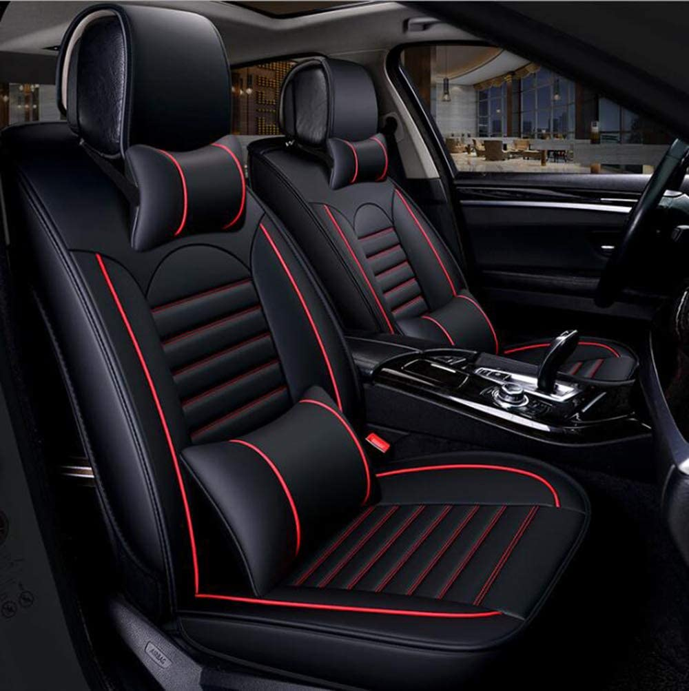 Wrangler Patriot Cherokee QCZT88 Car Seat Cover Is Breathable And Compatible with JEEP Renegade Grand Cherrokee,black red,Renegade Compass