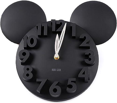 DYQWT Modern Design Big Digit 3D Wall Clock Home Decor Decoration Black