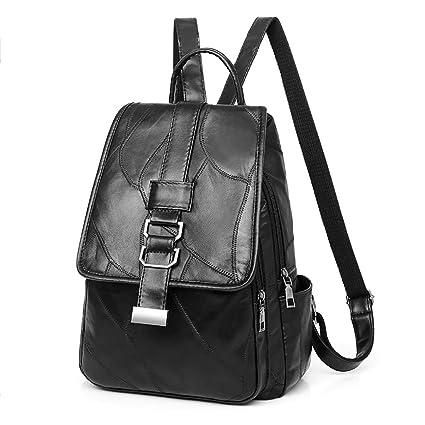 8e1a0d459eb2 Amazon.com : Leedford Women Backpack Sheepskin Student Backpack Bag ...