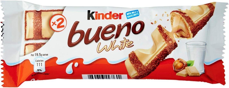 Kinder - Bueno white chocolat blanc: Amazon.es: Alimentación y bebidas