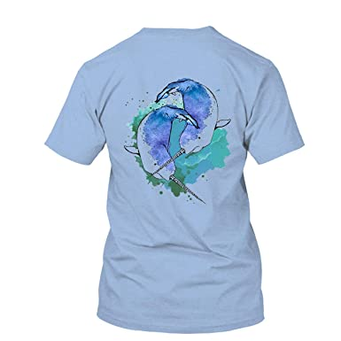 6bab79d327a2 All White Watercolor Narwhal T Shirt, Short Sleeve Tee Shirt, Clothes Blue,S