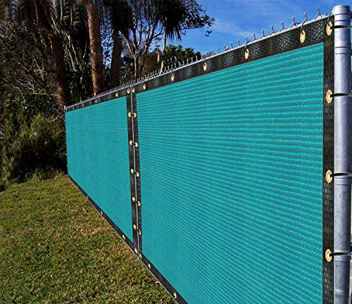 Ifenceview 6 x3 to 6 x50 Turquoise Green Shade Cloth Fence Privacy Screen Fence Cover Mesh Net for Construction Site Yard Driveway Garden Pergolas Gazebos Canopy Awning UV Protection 6 x 4