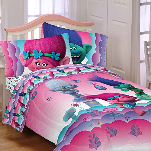Trolls Gang 5 Piece Bed Kit Includes Bonus Wax Melt