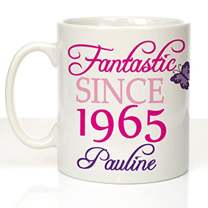 Personalised 50th Birthday Message Mug Womens Gift Ideas Amazoncouk Kitchen Home