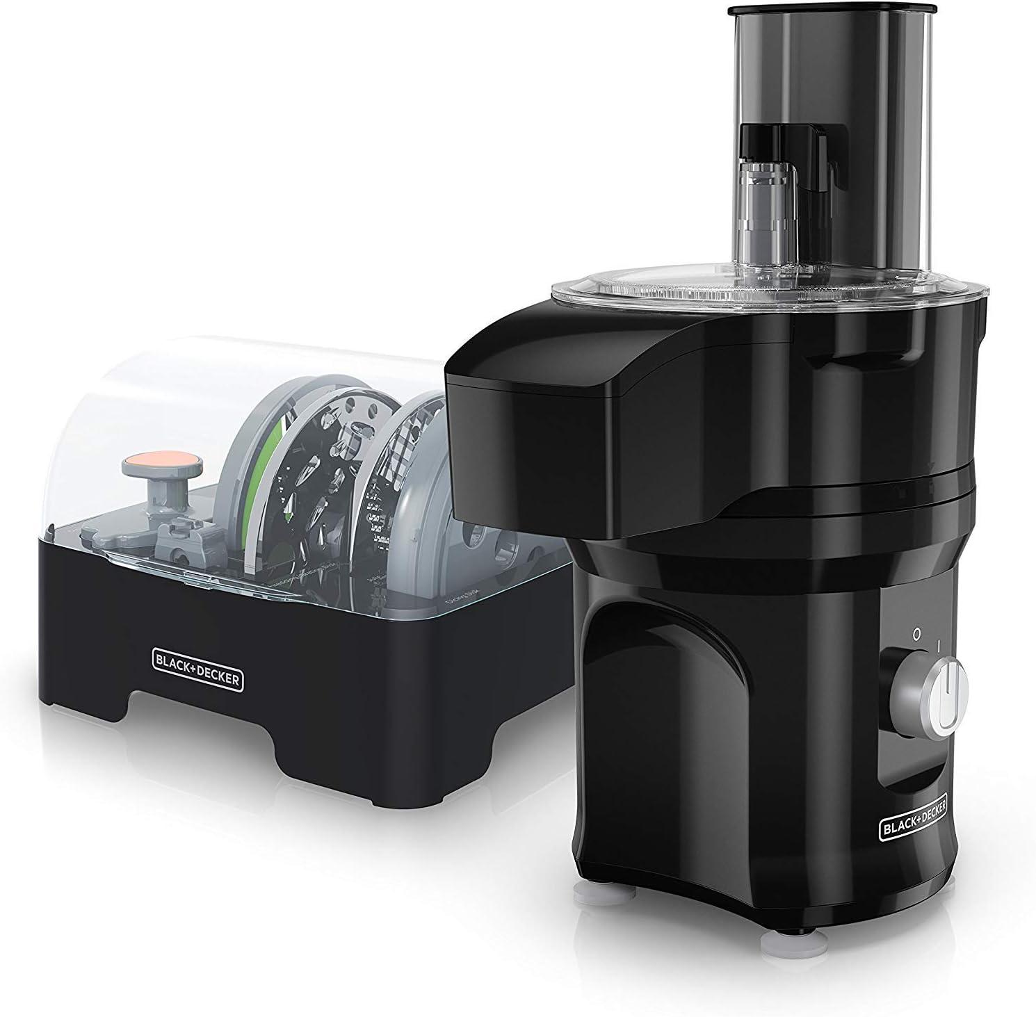 BLACK+DECKER Multi-Prep Slice 'N Dice Food Processor Bundle in Black (Renewed)