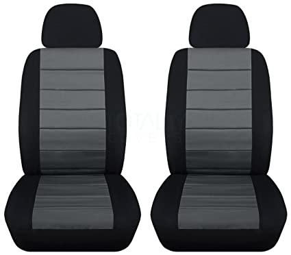 How To Make Car Seat Covers >> Amazon Com 2 Tone Car Seat Covers W 2 Separate Headrest Covers
