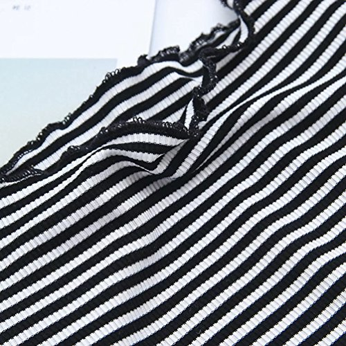 WanYang Mujeres Sin Tirantes de Manga Corta T Shirt Blusas Camisas Tops Verano Camiseta Tops Camisetas Raya