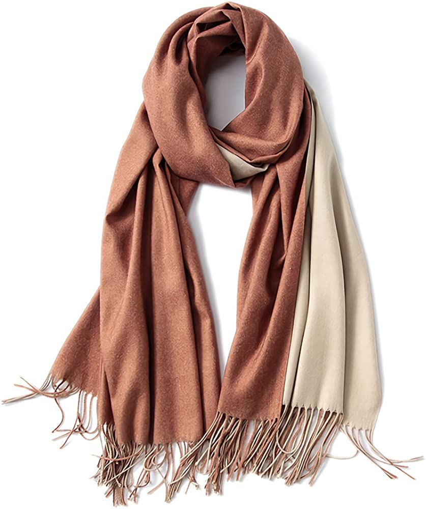 FORTREE Cashmere Feel Scarf - Lightweight Scarfs for Women, Large Soft 2 Tone Shawls and Wraps (10 Colors Available)