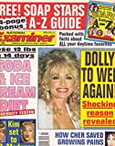Dolly Parton, Cher and Tracey Gold, Kim Basinger and Madonna, Soda & Ice Cream Diet, Soap Stars A-Z Guide - June 4, 1991 National Examiner Magazine